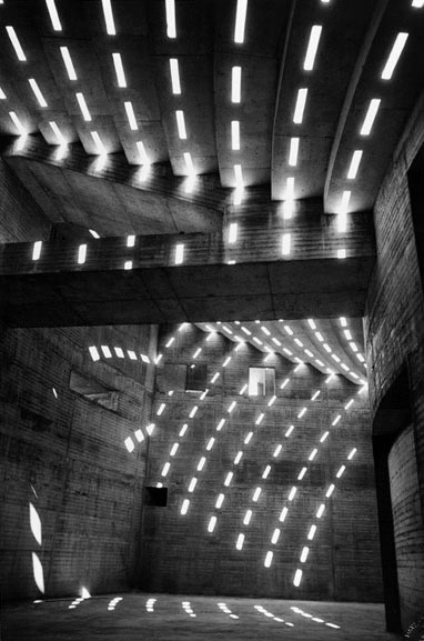 Sun patterns within the Sydney Opera House – 1962