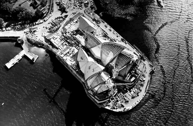 Sydney Opera House under construction – 1966