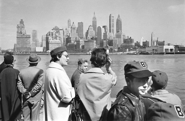 On the Staten Island ferry, New York – 1956