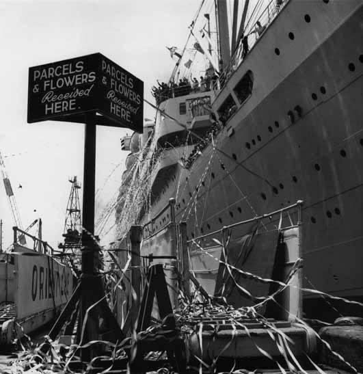 Departure of <em>Orcades,</em> Pyrmont – c.1948