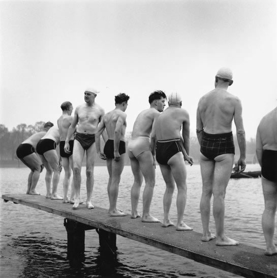 Christmas Day swim, The Serpentine, London – c.1955