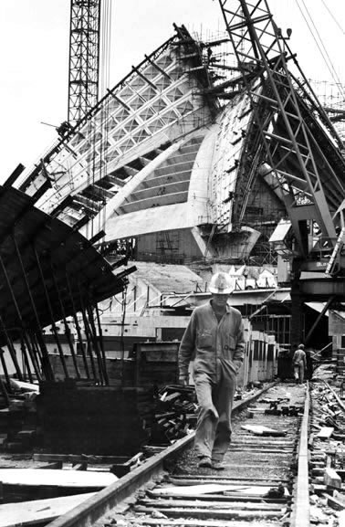 Sydney Opera House construction – 1965