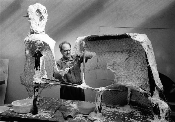 Henry Moore, Sculptor, Much Hadham, UK – c.1955