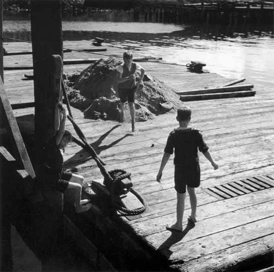 Boys at play on waterfront 3 – c.1947