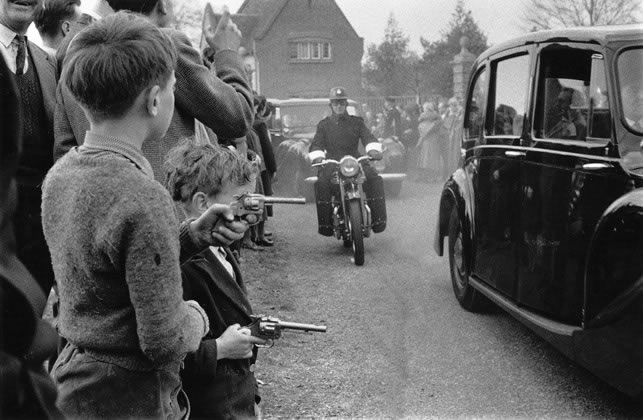 Bulganin and Kruschev leaving Chequers, UK – 1956