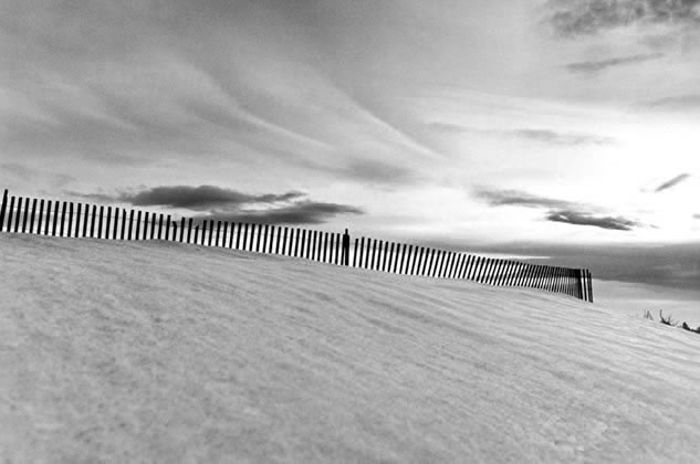 Snow fence, Wyoming, USA – 1973