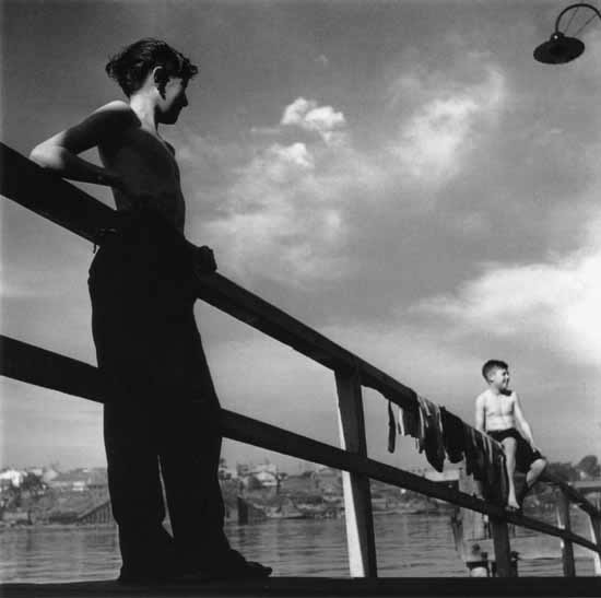 Boys at play on waterfront 1 – c.1947