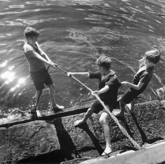Boys at play on waterfront 2 – c.1947