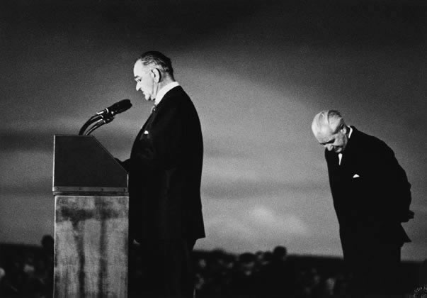 President Johnson and Prime Minister Holt at Canberra Airport – 1966