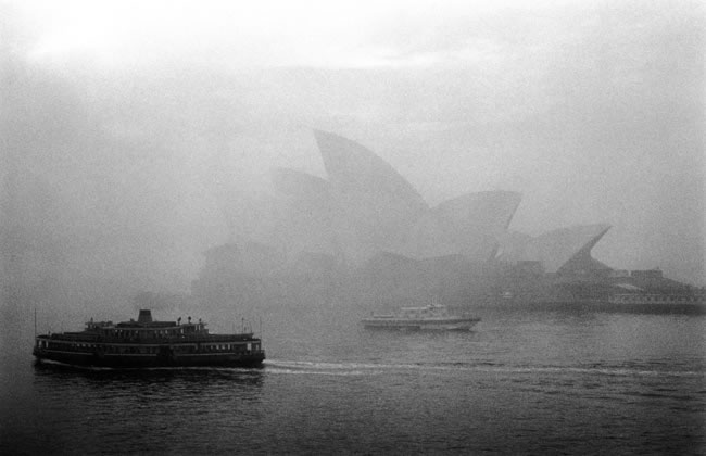 Winter fog on the Harbour – 1973