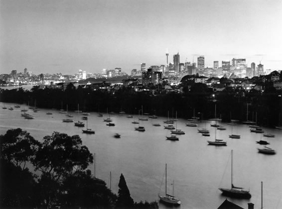 The city at dusk from Mosman Bay – 1991