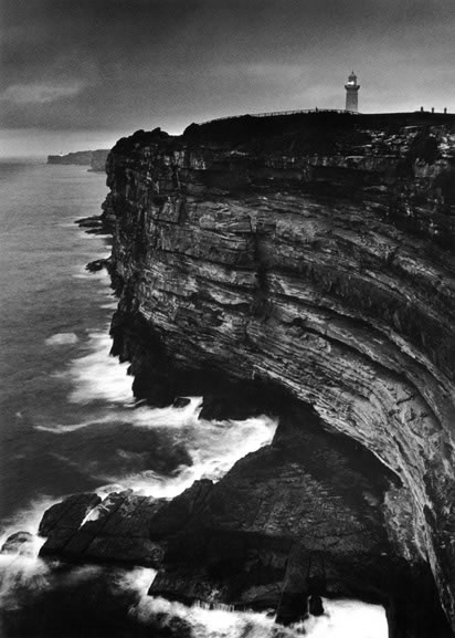 Macquarie lighthouse and Pacific Ocean cliffs at dawn – 1993