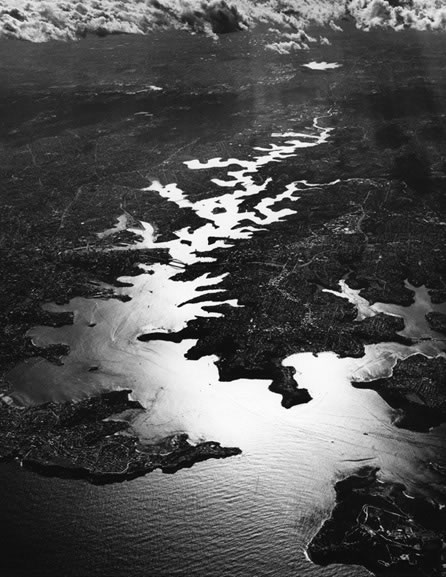Sydney Harbour from 20,000 feet – 1992