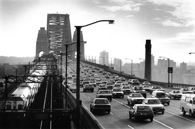 8am traffic on Harbour Bridge – 1985