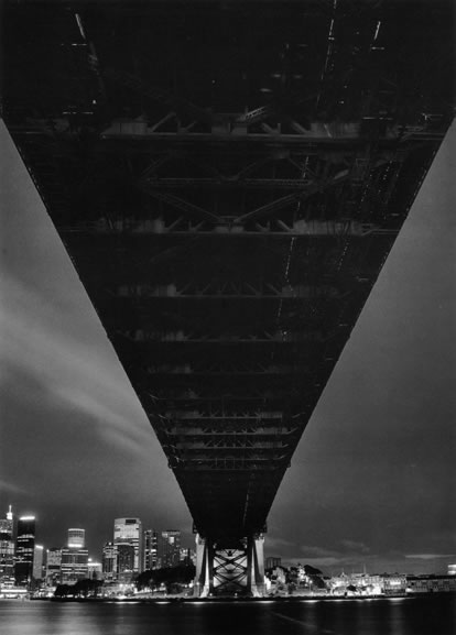 The bridge at night from Milsons Point – 1993