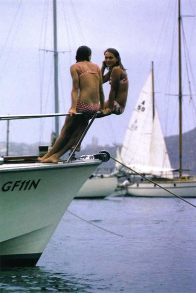 Girls on yacht, Store Beach – 1967