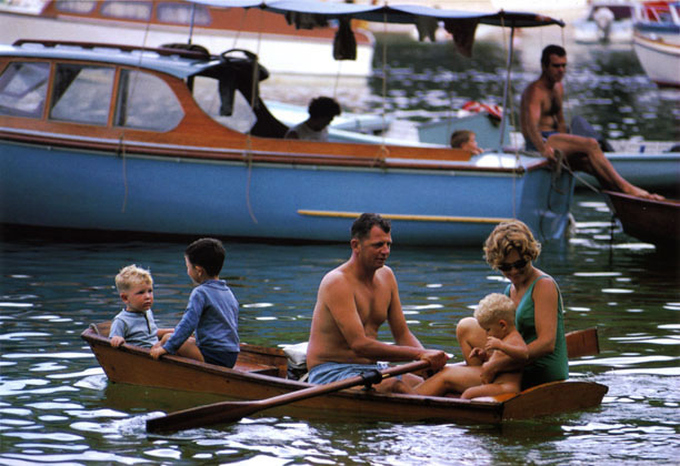 Family in dinghy, Store Beach – 1967