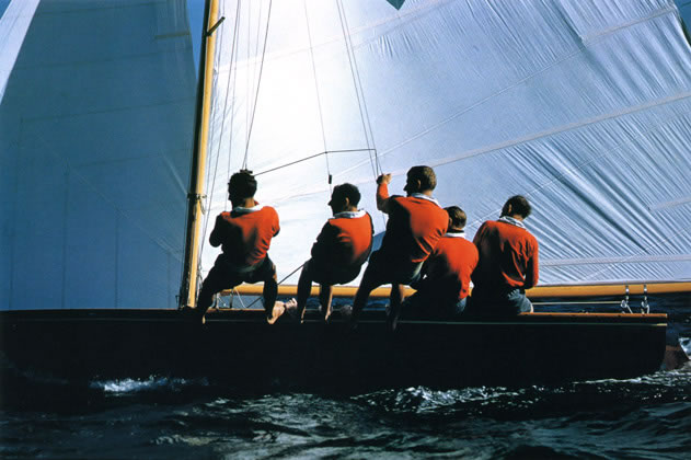 18 footer with five man crew – 1962