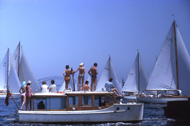 Watching the start of the Sydney to Hobart yacht race – c.1967