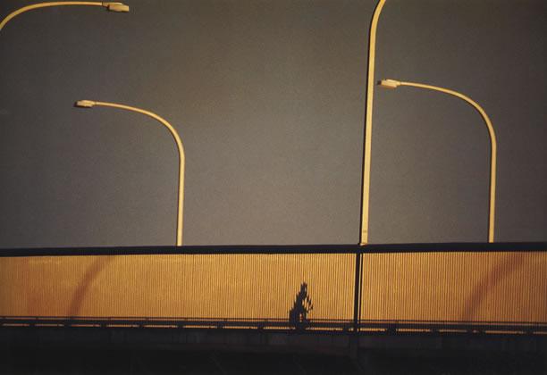 Cyclist on Gladesville Bridge – c.1964