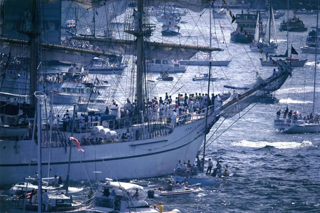 Procession of the Tall Ships, Australia Day – 1988