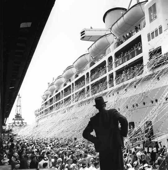 Orcades departure, Pyrmont – c.1948