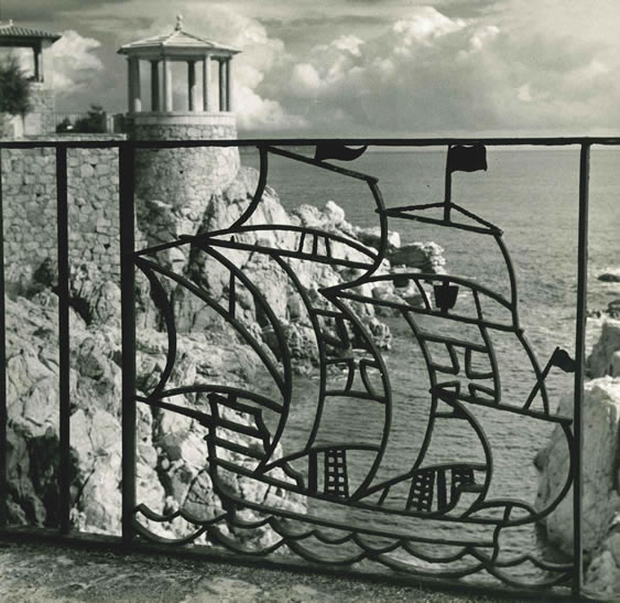 Wrought iron balcony, S'Agaro – c.1955