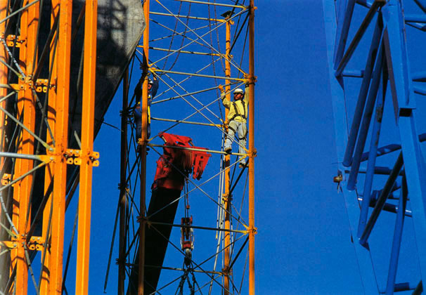 Riggers working on Kingshore scaffolding – c.1994