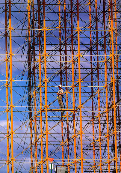 Rigger on Kingshore scaffold – c.1994
