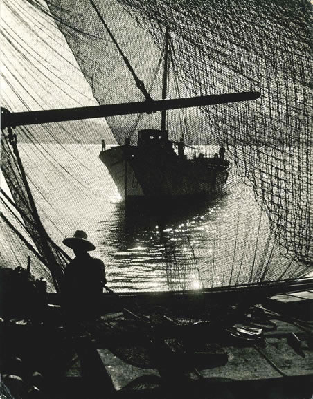 Fishing nets at Palamos, Costa Brava – 1955