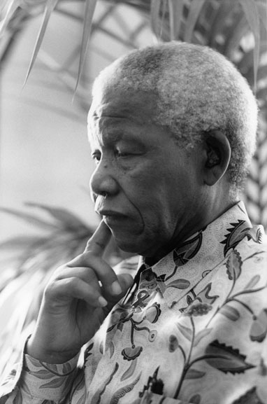 2. Nelson Mandela at the Hilton Hotel (contemplation), Sydney – 2000