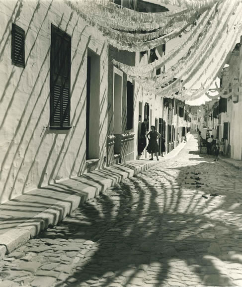 Fiesta decorations, Mahon, Minorca – 1954