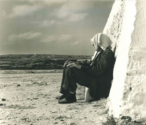 Sheltering from the sun, Minorca – 1954