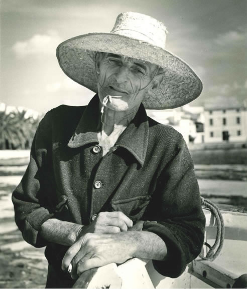 Old Spanish fisherman, Costa Brava – c.1955