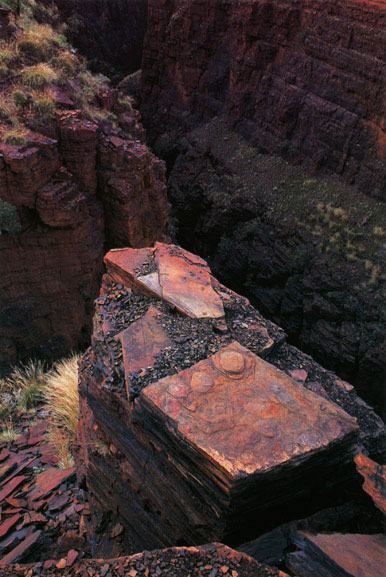 Gorge detail, the Pilbara, Western Australia – 1985