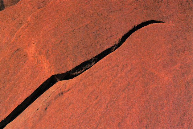 Ayres Rock (Uluru) detail, Central Australia – 1985