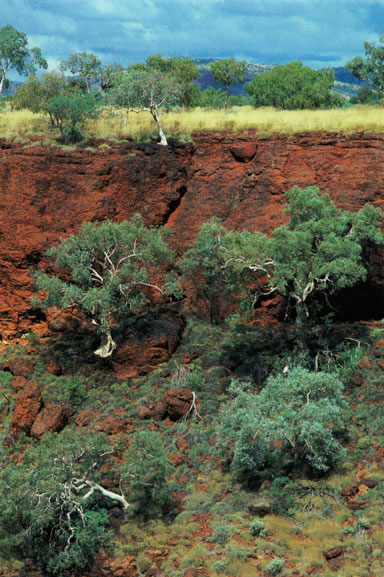 Red gorge landscape, the Pilbara, Western Australia – 1985