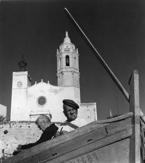 Spanish fishermen, Minorca – 1954