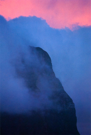 Clearing cloud on Mount Gower, Lord Howe Island – 1981