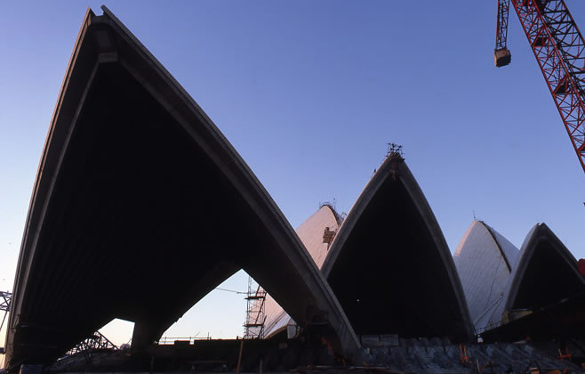 Opera House shells construction – c.1966