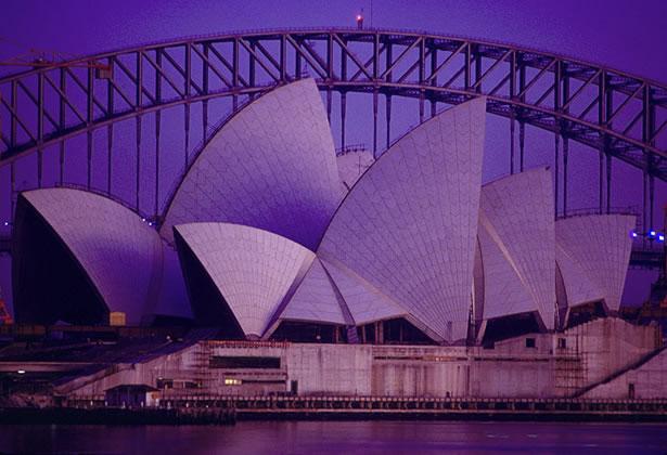 Sydney Opera House dawn – 1967