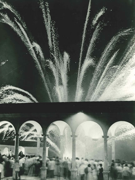 Fireworks at a ball in the garden of the Hostal de la Gavina, S'Agaro – 1955
