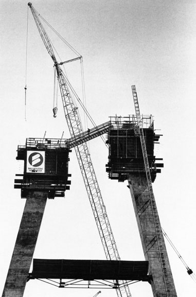 Jumpforms on western tower – c.1993
