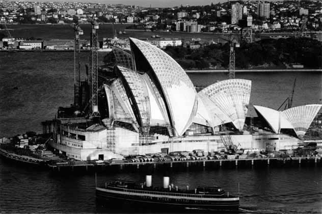 Opera House west elevation, evening – 1966