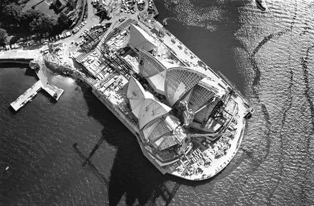 Sydney Opera House aerial – 1966