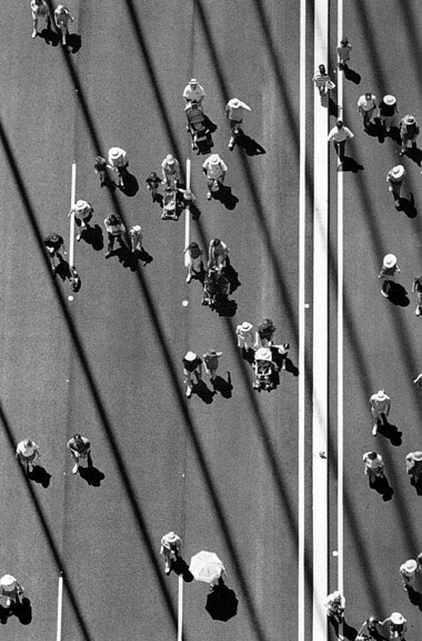 Part of crowd of 65,000 who walked across the completed bridge on opening day – c.1995