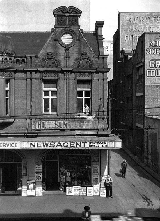 City newsagent, Sydney – c.1948