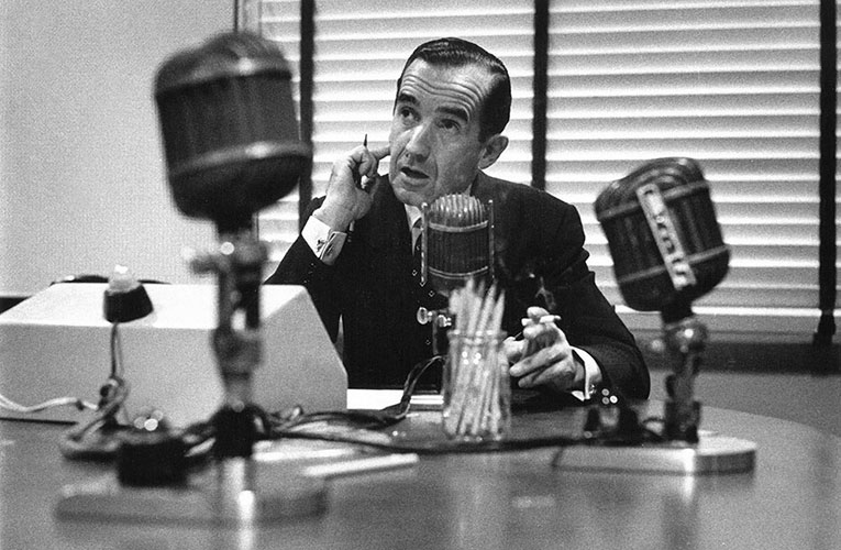 Ed Murrow, CBS Broadcaster, New York – 1956