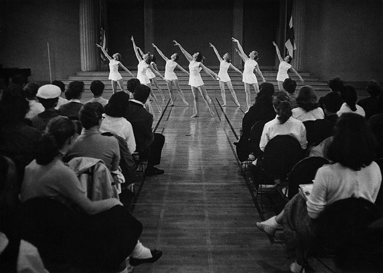Finnish Women's Gymnastic Group from Helsinki University, Barnard College, Colombia University, New York – 1956