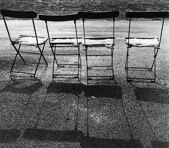 Four chairs and snow – c.1956